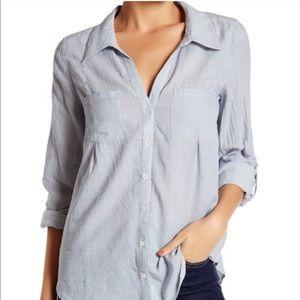 Joie Cotton Pinstripe Button Down Shirt